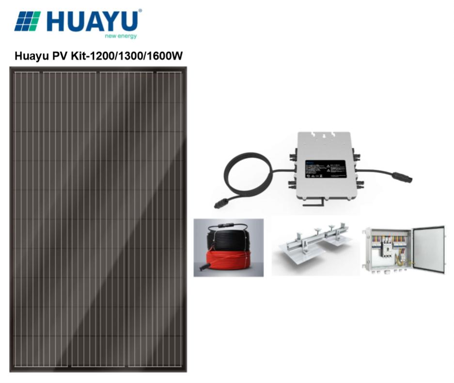 PV Kit-1200/1300/1600W (3-4 panels)